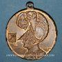 Monnaies Colmar. 4e rencontre des associations de pompiers d'Alsace-Lorraine. 1904. Médaille en bronze doré