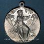 Monnaies Colmar. 6e rencontre  des chorales d'Alsace-Lorraine. 1910. Aluminium. 36,40 mm, avec son anneau