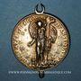 Monnaies Colmar. Emmanuel Betulée, pasteur (1553-1589). Vers 1585. Argent doré avec bélière et pendant