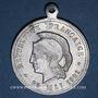 Monnaies Commémoration des morts de la Bataille de Mulhouse du 19.8.1914 du 35e & 42e d'infanterie. 1921. Alu