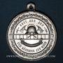 Monnaies Ensisheim. Fête des pompiers et 80e anniversaire des pompiers d'Ensisheim. 1908. Aluminium. 33,70 mm