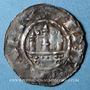 Monnaies Evêché de Strasbourg.Guillaume I ou Hézilo, évèques (1028-1056). Denier à la Vierge et à l'édifice