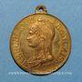 Monnaies Guerre de 1870 – Les Corps Francs de Strasbourg. Médaille cuivre jaune. 27,88 mm
