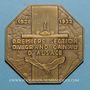 Monnaies Kembs. Inauguration de la centrale hydro-électrique du Rhin. 1938. Plaquette octogonale. Bronze