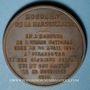 Monnaies Libération de Strabourg et commémoration de la Marseillaise de Rouget de Lisle 1918. Médaille bronze