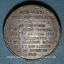 Monnaies Libération de Strabourg et commémoration de la Marseillaise de Rouget de Lisle 1918. Médaille plomb