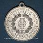 Monnaies Molsheim. 5e tournoi de gymnastique des associations d'Alsace et de Lorraine. 1900. Médaille alu.