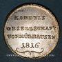 Monnaies Mulhouse. Association des Commerçants. Jeton 1816. Laiton argenté