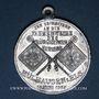 Monnaies Mulhouse. Bénédiction du drapeau du club de gymnastique «Bürgerturn Verein». 1908. Médaille alu.