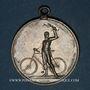 Monnaies Mulhouse. Club Rennen Cyclophil Mülhausen (club vélocipède mulhousien). 30 km.1898. Médaille étain