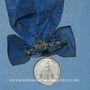 Monnaies Mulhouse. Congrégation des Hommes. (1874). Médaille maillechort. Avec son oeillet et son ruban