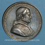 Monnaies Mulhouse. Consécration de la nouvelle église catholique. 1860. Etain. 50,15 mm.