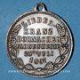 Monnaies Mulhouse-Dornach. Société de Chant - Consécration du drapeau. 1897 médaille. Laiton argenté. 27 mm.