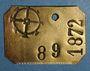 Monnaies Mulhouse. Plaque de taxe sur les chiens. 1872
