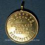 Monnaies Obernai. Hommage aux amis de l'association Harmonie Caecilia 1881. 1894. Médaille laiton. 24,88 mm