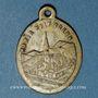 Monnaies Oderen. Souvenir de Notre Dame d'Oderen (fin 19e – début 20e). Bronze argenté. 19,24 x 26,16 mm