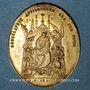 Monnaies Sewen. Inauguration de Notre Dame de Sewen. 1864. Médaille bronze doré, ovale