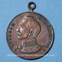 Monnaies Strasboug. Visite de l'empereur - Défilé militaire. 1908. Médaille cuivre. 30 mm. Avec son anneau