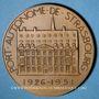 Monnaies Strasbourg. 25e anniversaire du Port autonome de Strasbourg. 1926-1951. Médaille bronze. H. Dropsy