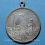 Monnaies Strasbourg. Cercle musical Lyra du Neudorf - Bénédiction du drapeau. 1899. Médaille laiton nickelé