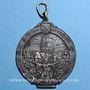 Monnaies Strasbourg. Congrès catholique. 1905. Médaille étain argenté. Avec anneau