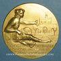 Monnaies Strasbourg. Exposition coloniale, agricole et industrielle, 1924. Médaille bronze doré. 50 mm