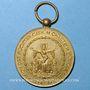 Monnaies Strasbourg. Fédération des Sociétés Catholiques de Chant et de musique. Médaille bronze doré