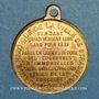 Monnaies Strasbourg. Guerre de 1870 - Jules Favre. Médaille laiton