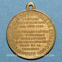 Monnaies Strasbourg. Guerre de 1870 - Les Corps Francs. Médaille laiton. 23,9 mm, avec son œillet