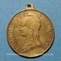 Monnaies Strasbourg. Guerre de 1870 - Les Corps Francs. Médaille laiton. 28,2 mm, avec son œillet