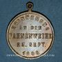 Monnaies Strasbourg. Harmonie de la Robertsau - Bénédiction du drapeau. 1888. Laiton. 28,5 mm.