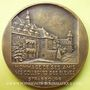 Monnaies Strasbourg. Hommage au professeur E. Vaucher. 1956. Médaille bronze. 68 mm. gravée par M. Delannoy