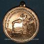 Monnaies Strasbourg. Inauguration de la ligne de chemin de fer Paris-Strasbourg 1852. Médaille cuivre doré