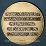 Monnaies Strasbourg. Inauguration de la Maison du Commerce International de Strasbourg. 1979. Médaille bronze