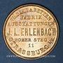 Monnaies Strasbourg. J. L. Erlenbach (lingerie, confection). Médaille cuivre jaune. 29,13 mm