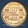 Monnaies Strasbourg. J. L. Erlenbach (lingerie, confection). Médaille cuivre jaune. 29,14 mm