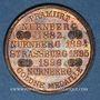 Monnaies Strasbourg. J. L. Erlenbach (lingerie, confection). Médaille cuivre rouge. 29,16 mm