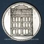 Monnaies Strasbourg. J. L. Erlenbach (lingerie, confection). Médaille. Zinc nickelé, avec son oeillet