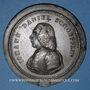 Monnaies Strasbourg. Jean Daniel Schoepflin (1694-1771). Epreuve en zinc de l'avers
