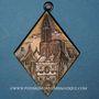 Monnaies Strasbourg. Société anthropologique allemande – Exposition de 1907. Bronze. Losange 35,28 x 51,08 mm