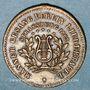 Monnaies Strasbourg. Société masculine de chant Liedertafel - Bénédiction du drapeau. 1886. Médaille laiton