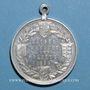 Monnaies Strasbourg. Visite de Guillaume II – Manœuvres et défilé militaire. 1899. Médaille aluminium