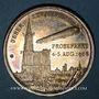 Monnaies Strasbourg. Vol d'essai du Zeppelin. 1908. Argent. 33,51 mm.