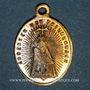 Monnaies Thierenbach. Souvenir de Notre Dame (19e - début 20e). Laiton argenté. Ovale, avec œillet