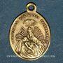 Monnaies Thierenbach. Souvenir de Notre Dame (19e - début 20e). Laiton. Ovale, avec œillet. 14,23 x 19,74 mm