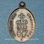 Monnaies Thierenbach. Souvenir de Notre Dame (19e - début 20e). Laiton. Ovale, avec œillet. 15,32 x 22,74 mm