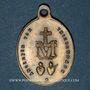 Monnaies Thierenbach. Souvenir de Notre Dame (19e - début 20e). Laiton. Ovale, avec anneau. 18,86 x 26,58 mm