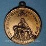 Monnaies Trois Epis. Sanctuaire de Notre Dame des Trois Epis (19e).  Médaille bronze