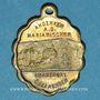 Monnaies Trois Epis. Souvenir du sanctuaire (fin 19e - début 20e). Médaille laiton. Ovale. 19,02 x 24,09 mm