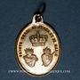 Monnaies Trois Epis. Souvenirs du sanctuaire (19e). Laiton argenté. 23,83 x 17,02 mm